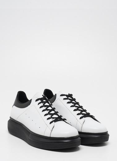 D by Divarese Deri Ayakkabı Beyaz